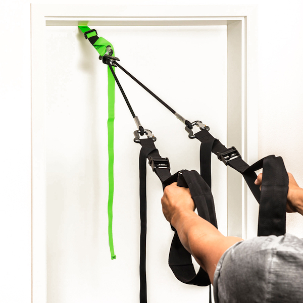 The Sling Trainer from eaglefit is also suitable for attaching to closed doors